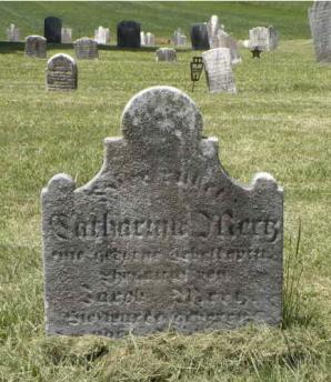 Tombstone of Catarina (née Schelkopf) Mertz