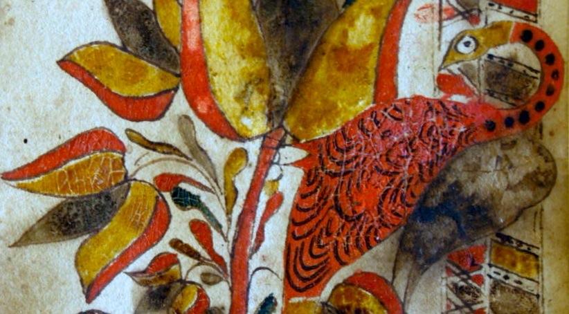 Fraktur Bird & Tulips