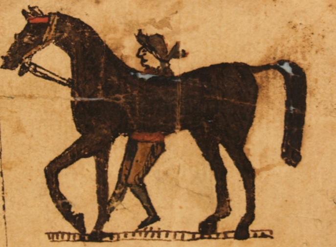 Fraktur Boy and Horse
