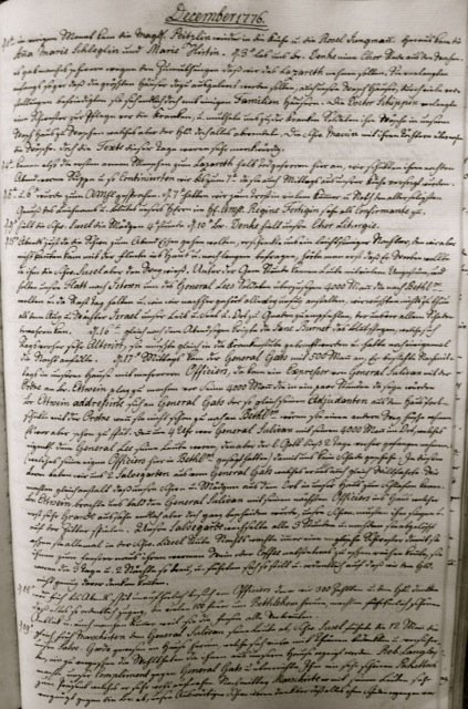 ILL. 2 Single Sisters' Diary, vol. 3: December 1776. Courtesy Moravian Archives at Bethlehem, Pa