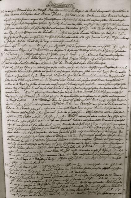 ILL. 2 Single Sisters' Diary, vol. 3: December 1776. Courtesy Moravian Archives at Bethlehem, Pa