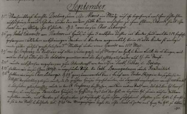 ILL. 4a Single Sisters' Diary, vol. 3: September 1777. Courtesy Moravian Archives at Bethlehem, Pa.
