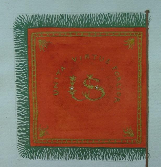 ILL. 6b Pulaski Banner, back: R. Grider collection, f.29.12. Courtesy Moravian Archives at Bethlehem, Pa.