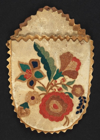 ILL. 8. Pouch: 1960.0172, tambour work ca.1770-1820. Courtesy of Winterthur
