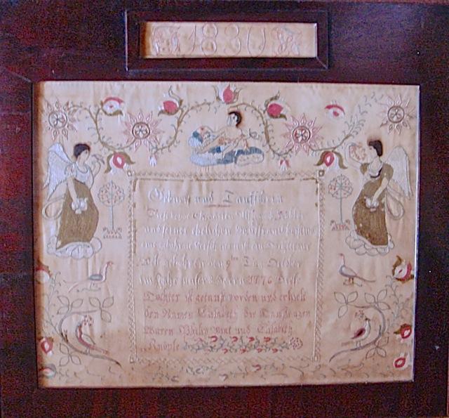 Elisabeth Köbler Embroidered Taufschein