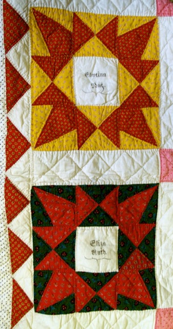ILL. 5b Anna Maria Desch (1834-19020) Fraktur Quilt, 1853. Goschenhoppen Historians Inc. (1994.02.01), Green Lane, PA. Photo Image © Del-Louise Moyer