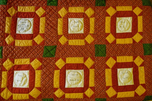 ILL. 6b Emma Schaffer (1852-1931) Fraktur Quilt Section, 1871. Goschenhoppen Historians Inc. (2004.06.01), Green Lane, PA. Photo Image © Del-Louise Moyer