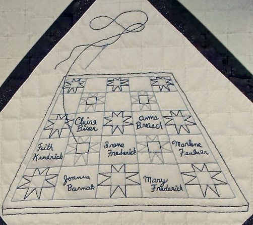 ILL. 7b Blue Church, Coopersburg, PA 250th Anniversary Signature Quilt Block AlyssumArts, Bethlehem, PA Photo Image © Del-Louise Moyer