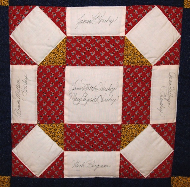 ILL. 8a Nancy Hasson Roan (1932- ) Friendship Quilt Block. Mennonite Heritage Center (1995.29.1), Harleysville, PA