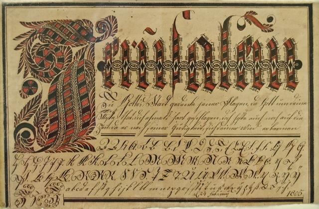 David Kriebel Vorschrift for Abraham Anders 2/24/1805