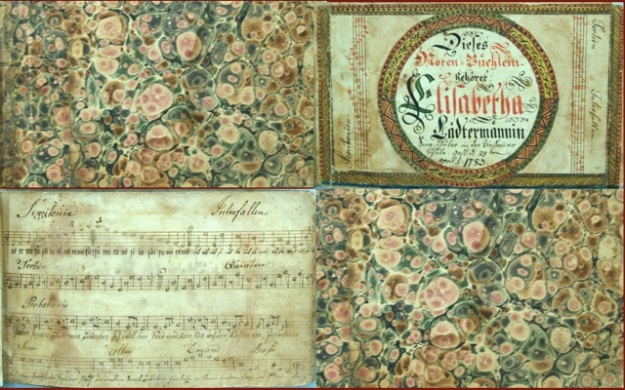 ILL. 4 Elizabetha Lädermännin Tune Booklet Courtesy: Borneman Collection at FLP, Philadelphia PA