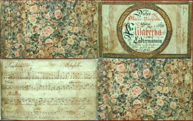 ILL. 4 Elizabetha Lädermännin Tune Booklet Courtesy: Borneman Collection at FLP, Philadelphia PA