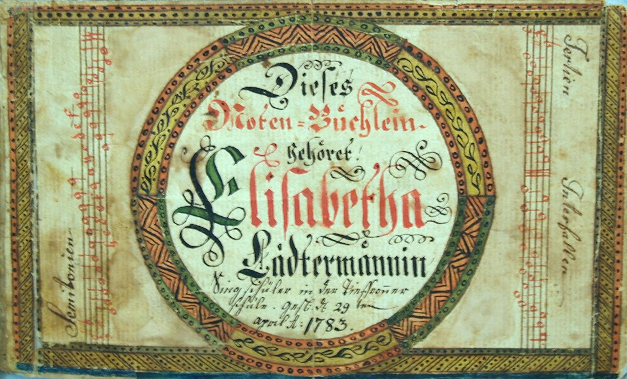Elisabetha Lädtermännin Tune Booklet, April 29, 1783