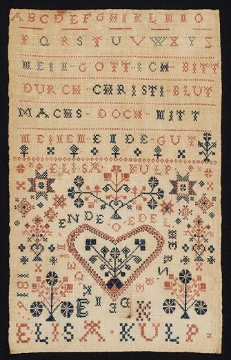 Elisa Kulp Sampler 1816