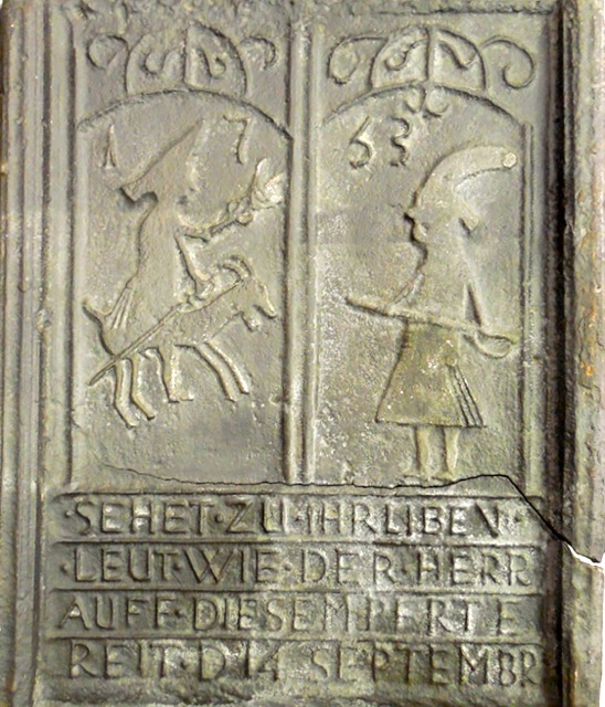 "Fig. 11 ""Sehet zu, Ihr liben Leut..."" Pennsylvania Stove Plate, ca.1753. Courtesy of The State Museum of Pennsylvania, Harrisburg, PA, 33.107.3."