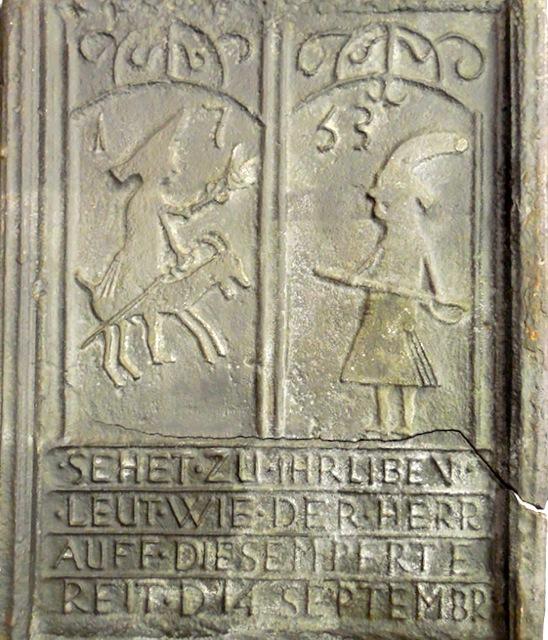 "Fig. 11 ""Sehet zu, Ihr liben Leut..."" Pennsylvania Stove Plate, ca.1753. Courtesy of The State Museum of Pennsylvania, Harrisburg, PA, 33.107.3."